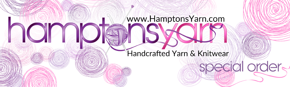 Special Order - Hamptons Yarn handspoun handmade from raw fiber to fnished luxury yarn